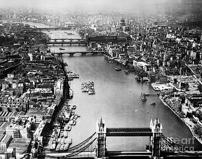 Painting - London: Aerial View, 1946 by Granger