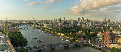 Photograph - London Along The Thames Panorama by Mike Reid