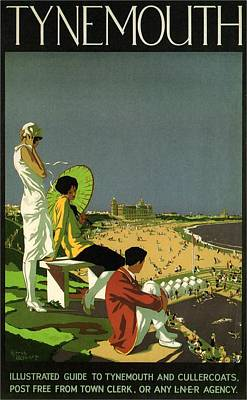 Royalty-Free and Rights-Managed Images - London and North Eastern Railway - Tynemouth, England - Retro travel Poster - Vintage Poster by Studio Grafiikka