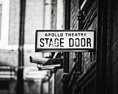 Photograph - London Apollo Theatre In Black And White by Lisa Russo