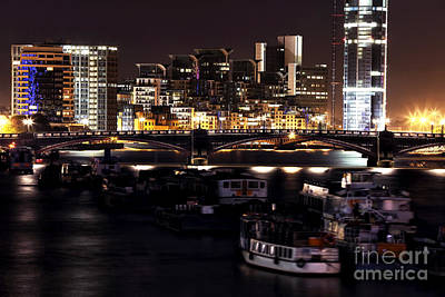 Photograph - London At Night IIi by John Rizzuto