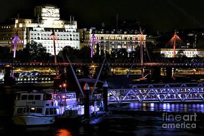 Photograph - London At Night V by John Rizzuto