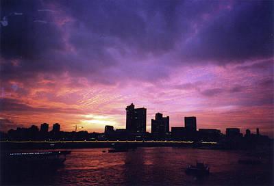 Photograph - London At Sunset 1996 Color by Erik Paul