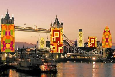Digital Art - London Autumn Collage by Julia Woodman
