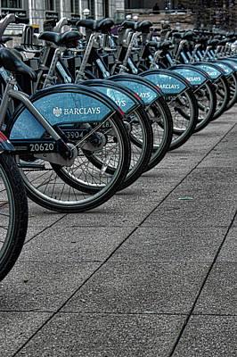 London Bicycles Art Print by Martin Newman