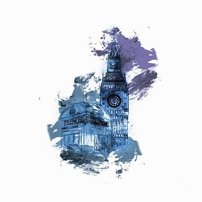 London Big Ben 03 Art Print by Gull G