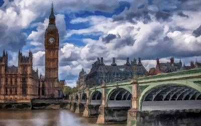 Print featuring the painting London Big Ben by David Dehner