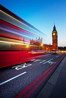 Night Photograph - London Big Ben by Nina Papiorek