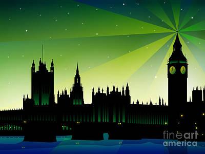 Digital Art - London Big Ben by Sandra Hoefer