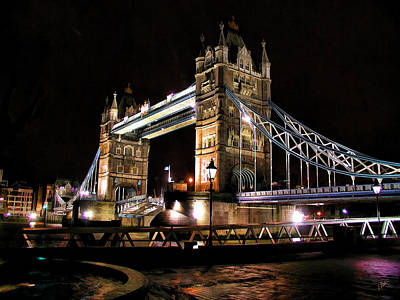 Waterscape Painting - London Bridge At Night by Dean Wittle