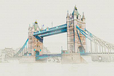Digital Art - London Bridge by Don Kuing