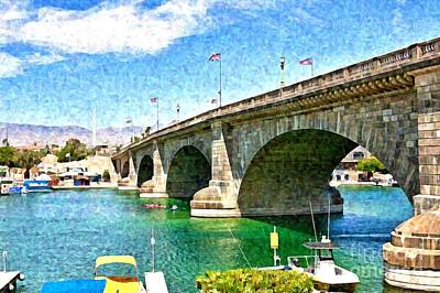 Photograph - London Bridge In Arizona by Tatiana Travelways