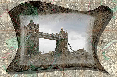 Photograph - London Bridge Outline by Sharon Popek