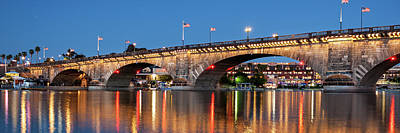 Photograph - London Bridge Twilight Panorama by James Eddy
