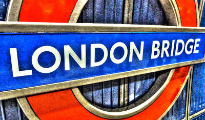 Photograph - London Bridge Underground by Leah Palmer