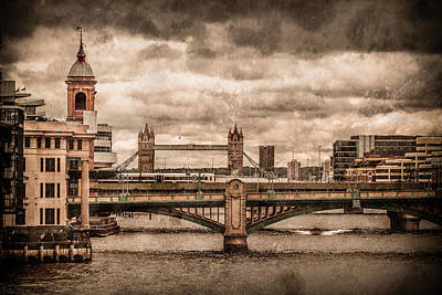 Photograph - London, England - London Bridges by Mark Forte