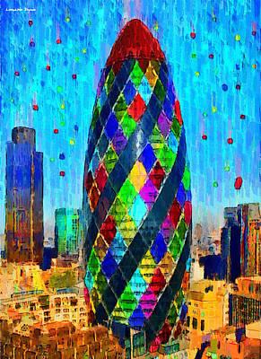 Stylish Painting - London Bullet 5 - Pa by Leonardo Digenio