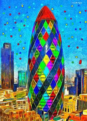 Great Britain Painting - London Bullet 8 - Pa by Leonardo Digenio