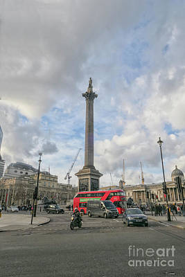 Photograph - London Bus And Lord Nelson by Patricia Hofmeester