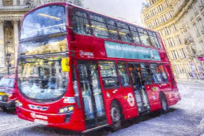 Photograph - London Bus Art by David Pyatt