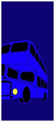 Digital Art - London Bus Is Blue by Asbjorn Lonvig
