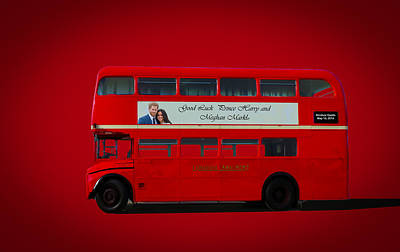 Digital Art - London Bus by Roger Lighterness