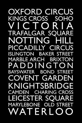 United Kingdom Map Digital Art - London Bus Roll by Michael Tompsett