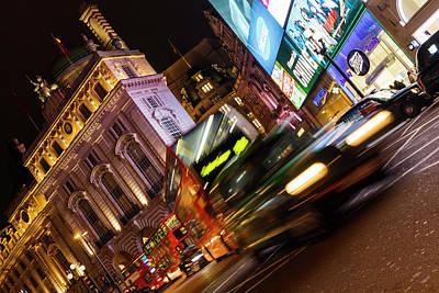 Fast Taxi Photograph - London Bustle by Rick Deacon