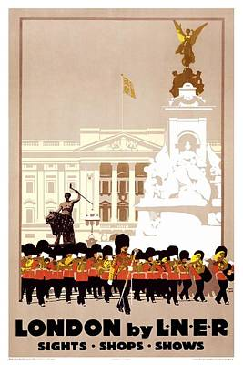 Royalty-Free and Rights-Managed Images - London by LNER - London and North Eastern Railway - Retro travel Poster - Vintage Poster by Studio Grafiikka