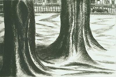 Drawing - London Cab  by Erik Paul