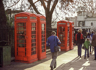 Photograph - London Call Boxes by Jim Mathis