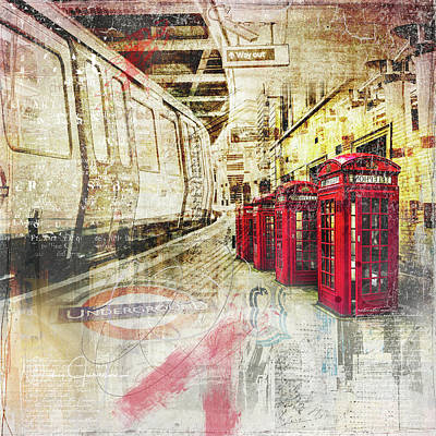 Digital Art - London Calling  by Nicky Jameson