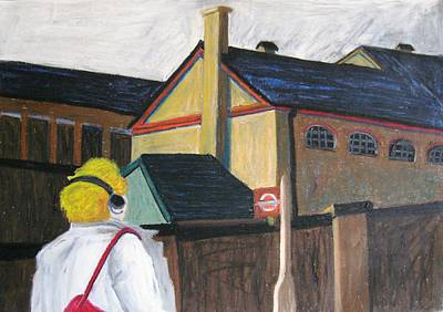 Walkman Painting - London Camden Town Walkman by Lesley Giles