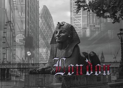 Photograph - London Card Bw Fine Art by Jacek Wojnarowski