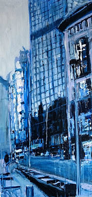 Painting - London City Blue by Paul Mitchell