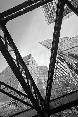 Photograph - London City Girders And Tall Finance Buildings by John Williams
