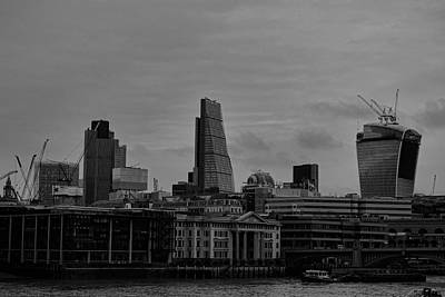 Tower Crane Photograph - London City by Martin Newman