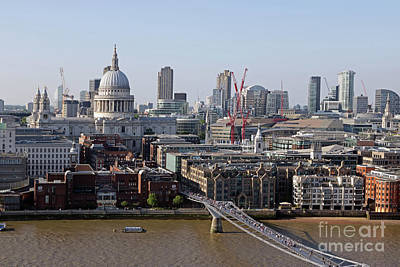 Photograph - London City Skyline by Julia Gavin
