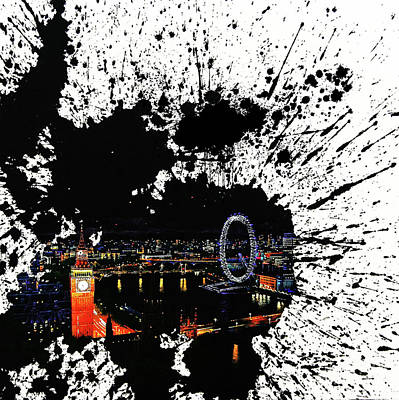 London City Splash Art  Original by Gull G