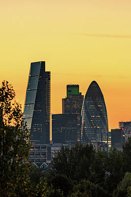 Photograph - London City Sunset by Matt Malloy