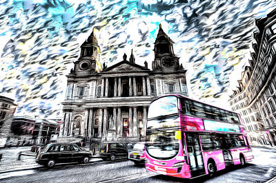 Mixed Media - London Classic Art by David Pyatt