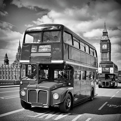 Tower Bridge London Photograph - London Classical Streetscene by Melanie Viola