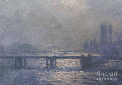 Water Scene Painting - London by Claude Monet