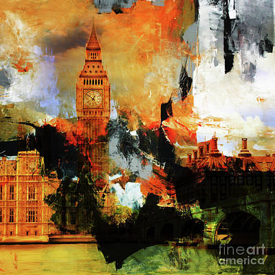 London Skyline Painting - Big Ben  by Gull G