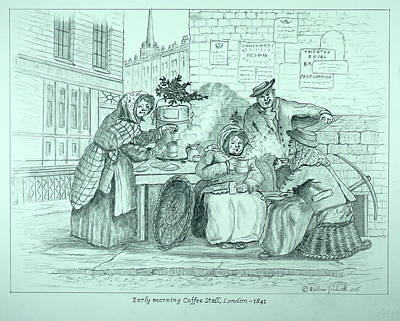 Drawing - London Coffee Stall by William Goldsmith