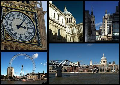 London Collage Art Print by Chris Day