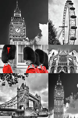 Photograph - London Collage by Mihaela Pater