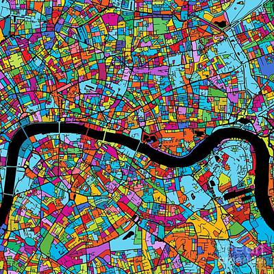 London Colorful Map Original