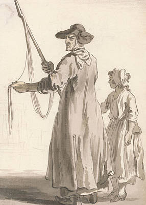 Crying Drawing - London Cries - A Lace Seller by Paul Sandby