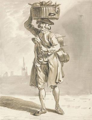 London Cries - A Man With A Basket  Art Print